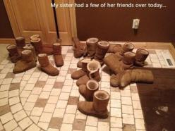 White girl party. Lol @Maddie @Daphne Murphy @Emily Leclair this is exactly what happened at basketball!!!: Ugg, Whitegirls, Funny Stuff, White Girls, Humor, Things, Friend, My Sister