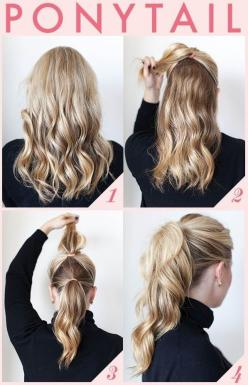 wish I could do some of these to my hair. Office Hairstyles for Women: High Ponytail: Fuller Ponytail, Hairstyles, Idea, Hairdos, Hair Styles, Makeup, Cute Ponytail, Pony Tails, Beauty