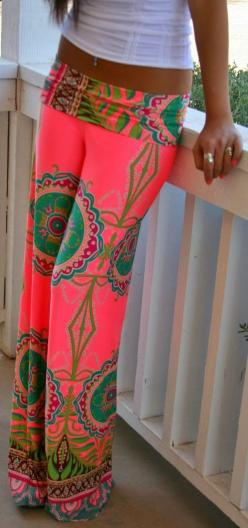#YogaPants: Palazzo Pants, Fashion Style, Dream Closet, Beach Pants, Color, Outfit, Spring Summer, Summer Pants, The Beach