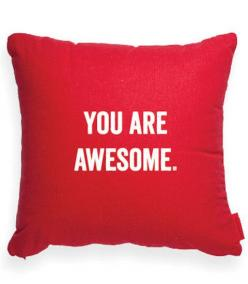 YOU ARE AWESOME: Decorative Pillow I, Burlap Decorative, Emma S Awesome, Decorative Pillows, You Are Awesome, Decorative Throw Pillows, Awesome Burlap, Awesome Brandy, Awesome Going