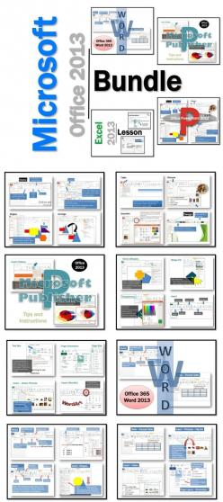 1. Word 2. Excel 3. Publisher 3. Publisher Activities 5. PowerPoint  These lessons contain instructions, screen shots and text bubbles to teach students how to use the software programs in Microsoft Office 2013.: Drama Educational, Dad, Highschoolherd Com