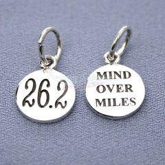 26.2 Small Mind Over Miles Charm. I want this when I finish my marathon!: Love Hate Relationship Running, Charms, Running Marathons, Gift Ideas, Small Mind, Distance Running, Inspiring Ideas, Products