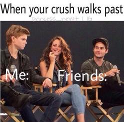 """Did they leav- Are they gone? Ohmygosh are they looking?"" ""hehe. Ya.."" *turns around* ""YOU LIED!"": Friends Push, My Friend, Friends Totally, Themazerunner, Yass, School, Funny Crushes, Yessss, Crush Walks"