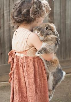 a girl and her bunny. This would have been little me: Rabbit, Girl, Sweet Friendship, Pet, Children, Bunnies, Photo, Animal