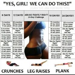 Abs So Tightly Right 24 Day Challenge: Challenges, Abs, Fitness, Workouts, Ab Challenge, Exercise, Work Out, Health