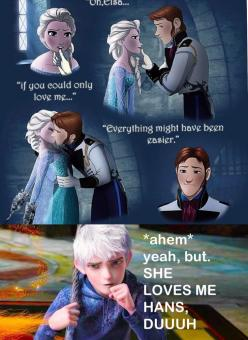 AGH! Hans kissing Elsa makes me want to punch him off the side of a boat (or a cliff, I'm not really particular): Stuff, Jack Frost, His, Frozen Heart, Jack O'Connell, Movie, Disney, Fandoms