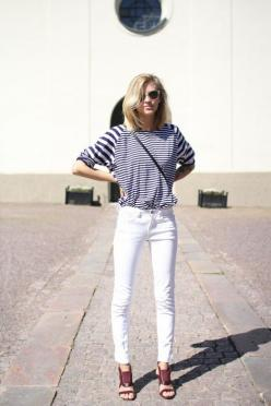 are you nauti-cal or nice?: White Skinny, Fashion, Whitejeans, Street Style, Outfit, Spring Summer, White Jeans