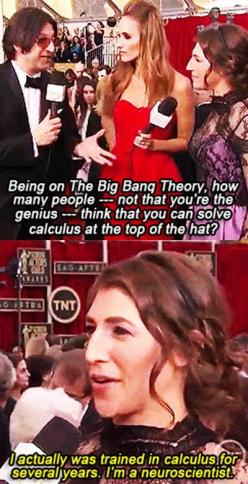 Awkward question for Mayim Bialik…she is so awesome though! What a good science role model :):