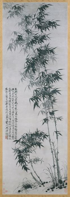 Bamboo in Wind and Rain. Shitao  (Chinese, 1642–1707) Qing dynasty (1644–1911), ca. 1694. Hanging scroll; ink on paper: Wind, Rain Shitao, Bamboo, Chinese Paintings, Ink Painting, Chinese Art, Asian Art