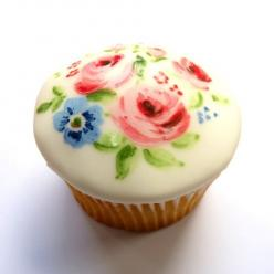 beautiful mother's day cupcakes by neviepiecakes: Floral Cupcake, Painted Cupcakes, Sweet, Mother, Food, Cup Cake, Pretty Cupcake