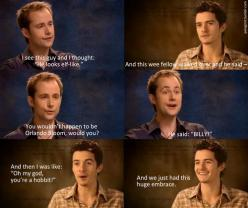 Billy and Orlando's first meeting on the set of LOTR. Could you imagine how wonderful this would be?: Rings Hobbit, Met Orlando, Awww Billy, Orlando Bloom, Billy Met, Elf Like, Hobbit Lotr, Hobbit Lord, Lotr Hobbit