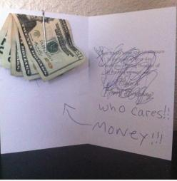 Birthday card - Funny! so doing this !: Money Card, Giggle, Gift Ideas, Birthday Cards, Who Cares, Funny Stuff, Gifts, Money Gift