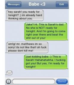 boyfriend and girlfriend text conversations | 22 Awkward Text Conversations With Parents: Funny Texts, Giggle, Funny Things, Text Messages, Funnies, Awkward Text, Funny Bf And Gf Texts