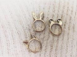Bunny,cat and frog ring...: Fashion, Animal Ear, Accessory, Style, Ears, Jewelry, Rings, Accessories, Cute Ring