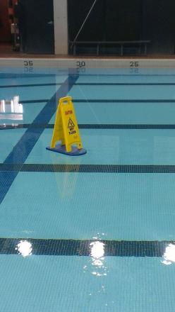 Can't really be trusted around wet floors. | 27 Things Clumsy People Simply Cannot Do: Floors, Pool, Funny Stuff, Funnies, Humor, Wetfloor