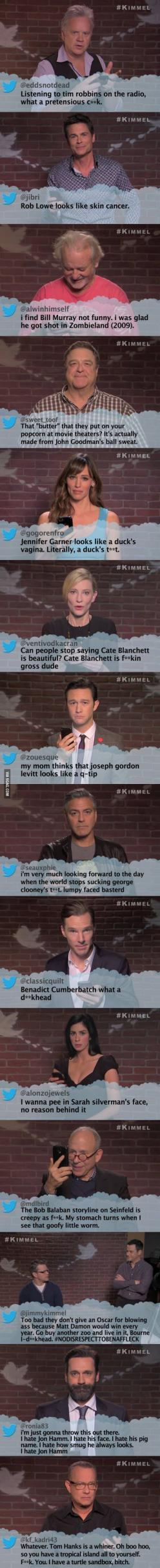 Celebrities read mean tweets: Best Funny, Laughs Humor, Funny Stuff, Funnies, Things, Celebrities Funny, Smile, Celebrity Humor, Giggles