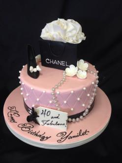 Chanel inspired birthday cakeGlamLuxePartyDecor: FREE SHIPPING! Creative, Unique, Personalized Glamorous Designer Party Decorations and keepsakes. Theme party Decor packages. 1st Birthday parties, pink princess tutu, weddings, christenings, holiday celebr