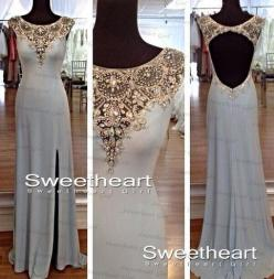 Charming sequins rhinestones Round Neck Long Prom Dresses, Evening Dresses from Sweetheart Girl: Evening Dresses, Style, Promdresses, Gowns, Wedding Dress, Long Prom Dresses, Prom Homecoming, Homecoming Prom