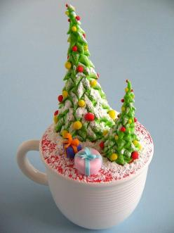 Christmas Tree Cupcake! I'm not sure I could bring myself to eat this.: Cup Cakes, Cupcake Cupcake, Christmas Time, Christmas Cakes, Cups, Xmas, Christmas Tree Cupcakes, Christmas Trees, Christmas Cupcakes