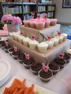 clever way to display cupcakes if you don't have one of those fancy smancy holders!: Birthday, Cupcake Stands, Cupcake Display, Diy Cupcake, Cupcake Towers, Party Ideas
