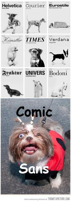 Dogs as fonts…@Olivia Loeffler remember when we were picking fonts for the front cover of the year book??? hahahahahahaha: Animals, Dogs, Funny Pictures, Comic Sans, Funny Stuff, Fonts, Typography, Design