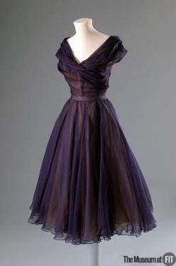 Dress    1950: Fashion, 1950S, Vintage Dresses, Christiandior, Christian Dior, 1950 S, Dior Dress