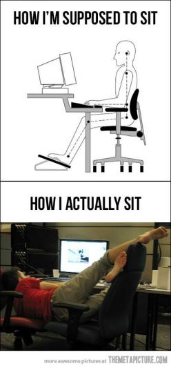 @Emily Keahey ... we need to practice better posture lmao... this is us especially on Sunday!: Sit, Giggle, Truth, I M Supposed, Funny Stuff, So True, True Stories