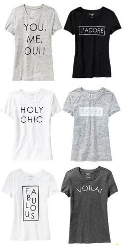 Fab Find: French Phrase Graphic Tees at Old Navy: Phrase Graphic, French Graphic Tees, God Made Me, French Phrases, Old Navy