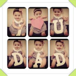 First Father's Day gift - @Taryn H H Taylor This would be realllllllly cute to do with Gentry!: