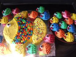 fish cupcakes: Party Cake, Fish Cake, Cakes, Fishy Cake, Fish Cupcake, Birthday Cake, Party Ideas, Birthday Party