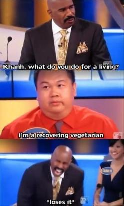 Funny Pictures Of The Day – 73 Pics: Giggle, Steve Harvey, Recovering Vegetarian, Funny Picture, Funny Stuff, Funnies, Humor, Family Feud