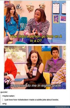 funny tumblr comments: Funny Comments, Subtle Jokes, Laughing So Hard, Nickelodeon Victorious Funny, Inappropriate Jokes, Boob Jokes, Nickelodeon Hahahahahahahaha, Victorious Funny Jade, Funny Tumblr