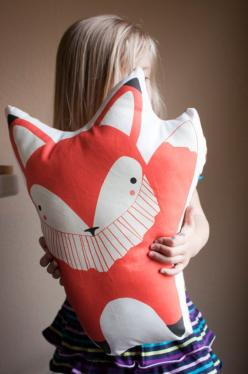 Giant Handmade Fox Pillow Fox Toy Stuffed Animal Baby by Gingiber, $50.00  I think Juniper has her name written all over this! Maybe a first birthday present:): Animal Baby, Giant Handmade, Animal Babies, Stuffed Animal