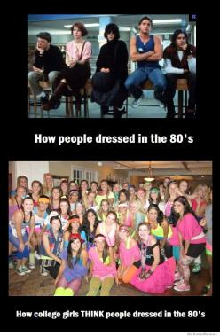 "Ha ha...yep. I'm like ""People! There were other looks in the Eighties besides 'Let's Get Physical' meets 'Flashdance!'"": College Girls, 80S, Breakfast Club, Funny Stuff, So True, 80 S"