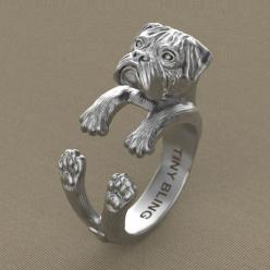 Handmade Boxer Dog Jewelry. 925 Sterling Silver by TinyBling: Boxer Dogs, Pet, Sterling Silver, Boxers, Handmade Boxer, Boxer Ring, 925 Sterling, Dog Jewelry