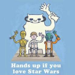 Hands up if you love Star Wars!: Geek, Nerd, Stuff, Time Ago, Hands, Stars, Funny, Star Wars, Starwars