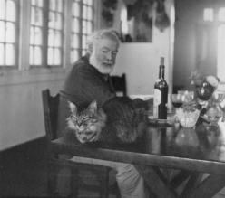 Hemingway and his cat • via Brain Pickings: Cats, Cat People, Ernesthemingway, Ernest Hemingway, Famous People, Book, Writers, Photo, Animal