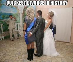 "her face is like ""WTF?!"": Quickest Divorce, Funny Pictures, Wedding, Funnypictures, Funny Stuff, Humor, Funnies, Photo"
