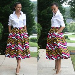 Hey, I found this really awesome Etsy listing at https://www.etsy.com/listing/177366443/african-print-midi-skirt:
