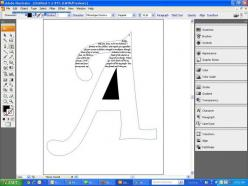 How to type in a letter shape. Great tutorial!: Adobe Illustrator Tutorial, Typography How To, Letter Shape, How To Typography Tutorials, A Letter, Inkscape Tutorials, Silhouette Tutorials, Photoshop Typography Tutorial