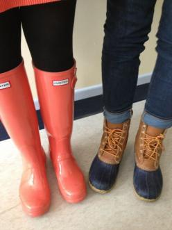 Hunter boots and Bean boots.: Shoes, Hunters, Hunter Boots, Rain Boots, Style, Clothes, Southern Prep, Llbean Boots, Fall Winter