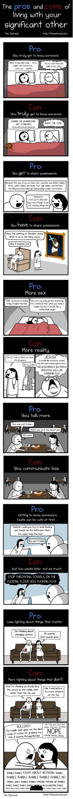 I'm dying: Giggle, Wookie Jesus, The Oatmeal, Truth, Living Together, So True, So Funny