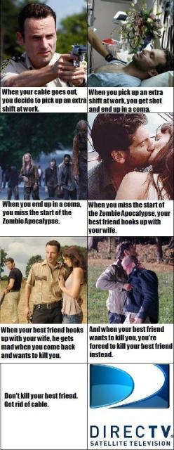I actually read where the walkers started like 30 days, before Rick was shot, but this is still funny.: Thewalkingdead, Best Friends, Zombie, The Walking Dead, Funny, Don T Kill