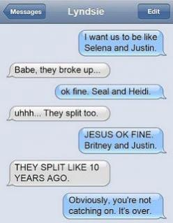 I don't think I would *break* up with someone over text, but if I did, I would do it like this.: Funny Texts, Funnytext, Breakup Text, Funny Picture, Text Messages, Funny Stuff, Humor, Funnies