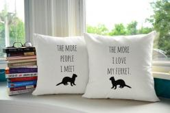 I Love My Ferret Throw Pillows @bekalis : Gift, Decor Ideas, Horse Room, Cushions, Throw Pillow Covers, Throw Pillows, Pillow Set
