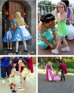 "i love the little girl getting her shoes tied by Jasmine.  Her face is like ""Holy Crap do you know who this is!"" I can't wait to take Emma to Disney!!!: Disneyprincesses, Little Girls, Disney Dreamworks Pixar, Shoes Tied, Disney Princesses, My"