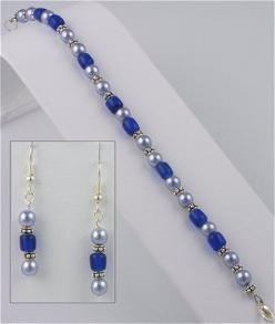 IDEA: Duchess Bracelet and Earring Set... LOVE it!: Beading Jewelry, Beads Bling, Oblong Beads, Eebeads Com, Jewellery Beading, Color Idea, Bead Necklaces