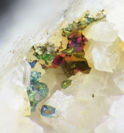 Iridescent chalcopyrite on dolomite: Crystals Minerals Gems, Gems Minerals Crystals, Minerals Crystals Earth Beauty, Rocks Minerals, Fossil Gemstones Rocks, Colorful Gemstones, Iridescent Chalcopyrite, Minerals Rocks, Dolomite Minerals