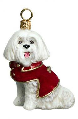 Joy to the World Collectibles 'Maltese Dog' Ornament | Nordstrom: Two, Dogs, Maltese, Pet, Joy, Red Velvet, Ornaments, Coat, Diva Dog
