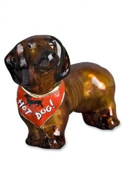 Joy to the World Collectibles 'Red Dachshund' Dog Ornament available at #Nordstrom: Dachshund Doggie, Glass Christmas Ornaments, Glasses, Best Doxies, Bandana Ornament